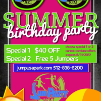 summer birthday party special